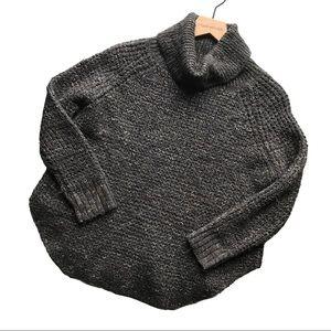FREE PEOPLE Wool Oversized Turtleneck Linen XS